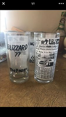 limited edition drinkware blizzard of 77 drinking glasses