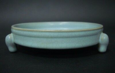 Old Rare Chinese Ru Kiln Celadon Porcelain Brush Washer QA670
