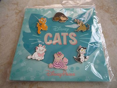 Pin Trading Disney Pins Lot of 6 Brand New Cats Set Marie Cheshire Figaro Oliver