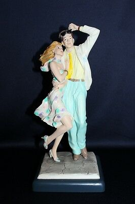 Vittorio Tessaro Signed CAPODIMONTE Style 90's Couple + Original Tags