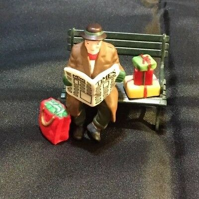 Dept 56 Heritage Village Collection REST YE MERRY GENTLEMAN # 5540-9 Metal Bench