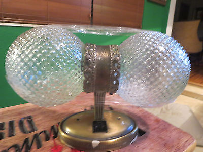 Vintage UNDERWRITERS LABORATORIES Double Globe Bathroom Light Fixture
