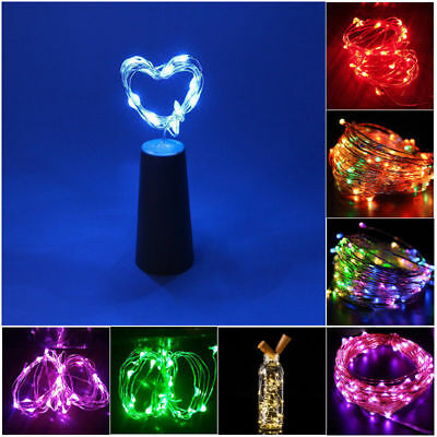 1.5M 20 LED Cork Shape String Fairy Night Light Wine Bottle Lamps With Battery