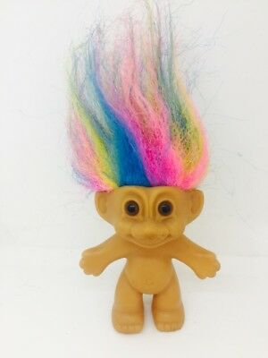 Vintage Russ Good Luck Troll with Rainbow Hair collectable