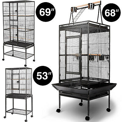 """Large Parrot Bird Cage Pet Supplies Finch Cage Macaw Cockatoo 53"""" 68"""" 69"""" Black"""
