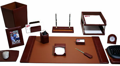 DACS-D3041-d3041-mocha-leather-16-piece-desk-set