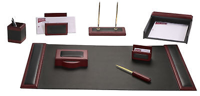 DACS-D8012-d8012-rosewood-leather-8-piece-desk-set