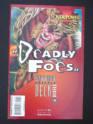 OverPower Card Game Promo Comic Book NM Deck #3  High Grade Marvel Comic