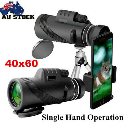 40X60 HD Zoom Optical Lens Camera Monocular Telescope+Clip+Tripod For Phone New