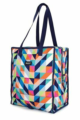 New Packit Freeze & Go Shopping Grocery Cooler Bag Paradise Pack It Freezable Co
