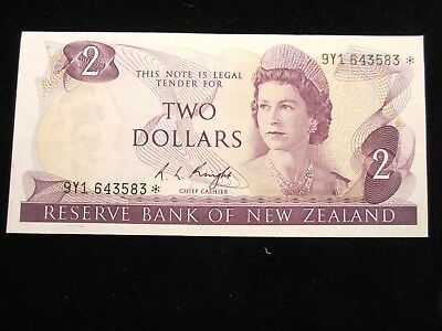 New Zealand $2 1975 Knight Issue 3 star replacement Low start L@@K