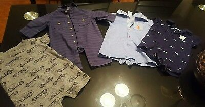 Baby Boy Clothes NB,3m 3-6m Carter's cherokee U.S Polo/Rompers 4 Piece Lot