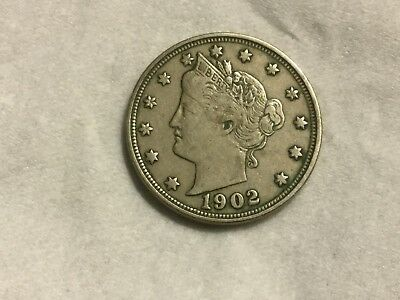 1902 5 Cent Liberty coin very nice
