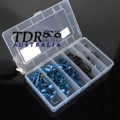 Complete Fairing Bolts Screws Fasteners Kit For Yamaha YZF 1000 R1 600 R6 BLUE