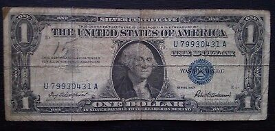 1$ DOLLAR SILVER CERTIFICATE Blue Seal SERIES: 1957 US, U 79930431 A