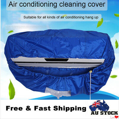 Blue Air Conditioner Cleaning Cover Dust Washing Waterproof No Leakage for 1-1.5