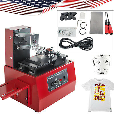 US Electric Pad Printer Printing Machine T-Shirt Bottle Cup INKprint LOGO Coding