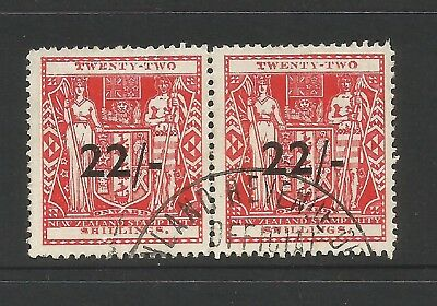 NZ/b23 NEW ZEALAND REVENUES AS SCANNED 22/- PAIR FU