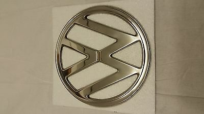 Vw Bus Early Baywindow Front Badge Polished Stainless 68-72 Camper Van Type 2