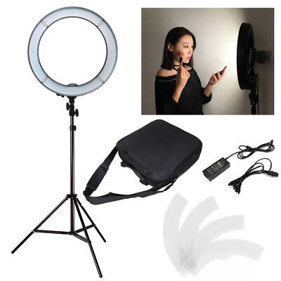 "18"" 55w LED Photography Ring Light 5500K Lighting W/ Light Stand & Carrying Bag"