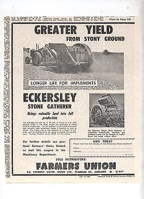 Eckersley Stone Gatherer Advertisement removed from Australian Journal Tractor