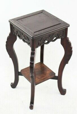 Antique Chinese Carved Rosewood Display Stand Side Table-[PL3282]