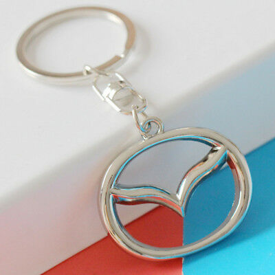 High Quality 3D Metal CAR Key Chain double side Logo Keychain Key Ring for Mazda