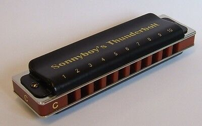 Sonnyboy's Thunderbolt Harmonica available in keys of C, D, E, F, G, A, Bb