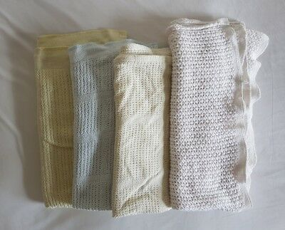 4 Cotton Cellular Baby Blankets