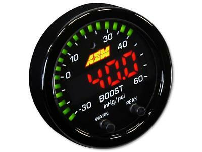 AEM X-SERIES BOOST PRESSURE GAUGE -30~60PSI / -1~4BAR #30-0308 (Black Bezel)