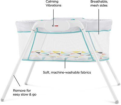 Bassinet, Portable Stow and Go, Machine Washable, Cozy Mattress Pad,Baby Comfort