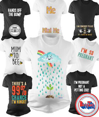 Ladies MATERNITY T-Shirt Clothing Pregnancy Funny Baby Shower Gift *Choose Top*