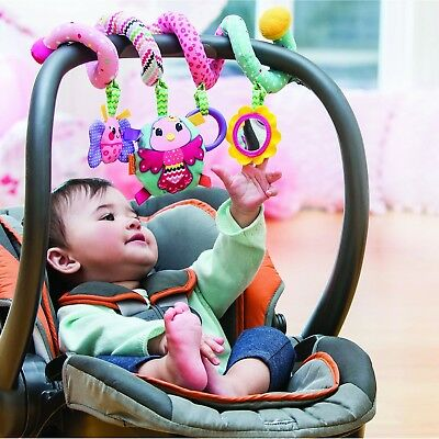 Stroller Crib Decorative Functional Baby Accessories Pink Spiral Activity Toy