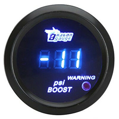 52mm LCD Digital Auto Car -14~29 PSI Turbo Boost Gauge Meter w Sensor Light W5O5