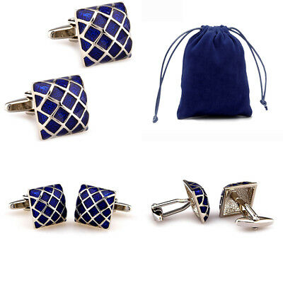 30 Styles Classic Cufflinks With Velvet Bag TZG Cuff Links Promotion