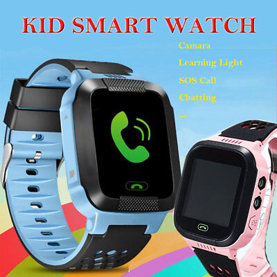 Anti-lost Children Kids Smart Wrist Watch LBS Tracker SOS Call Android & IOS UK