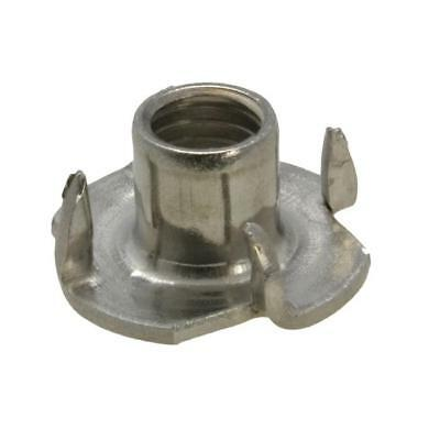 G304 Stainless Steel M6 (6mm) Metric Coarse Tee Nut 4 Prong Blind Timber T Nut