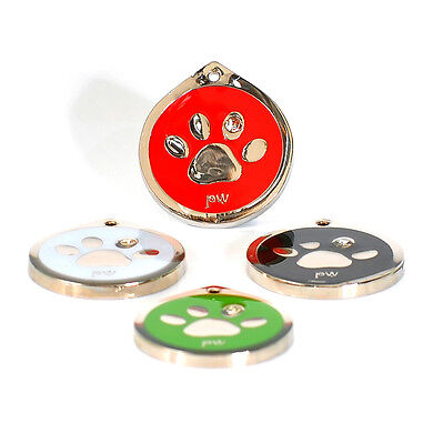 Quality Poochiwoochi Personalised Pet Dog Cat ID Collar Tag Disc Various designs