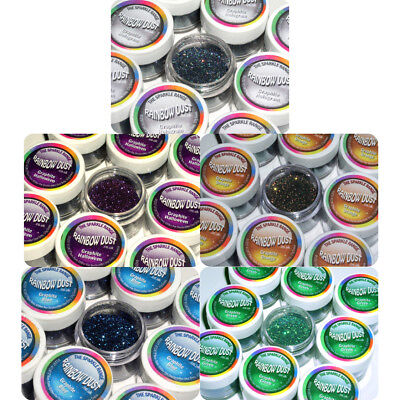 10 x Rainbow Dust Sparkle Range ANY GRAPHITE Non Toxic Cake Glitter Decoration