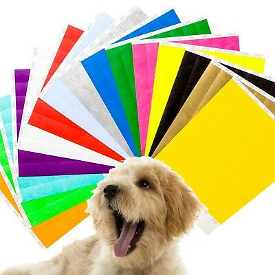 """1"""" & 3/4"""" Plain Paper Tyvek Band for Puppy Dog Whelping ID Identification Collar"""