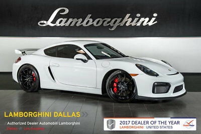 "2016 Porsche Cayman GT4 Coupe 2-Door LEATHER+SPORT CHRONO PACKAGE+NAVIGATION+BI-XENON+20"" GT4 SATIN BLACK WHEELS"