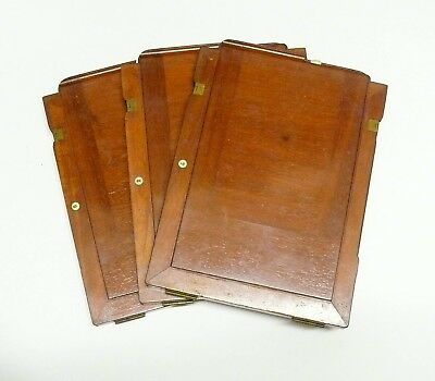 MAHOGANY DOUBLE DARK SLIDES FOR 8.5 x 6.5 PLATE CAMERA. FITS THORNTON PICKARD ON