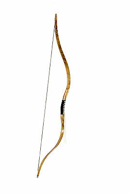 FLAGELLA SCYTHIAN STYLE LAM. RECURVE BOW with black leather 46 lbs