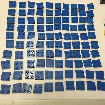 Lego 'Plate 2 x 2' (3022) Blue Pack of 20