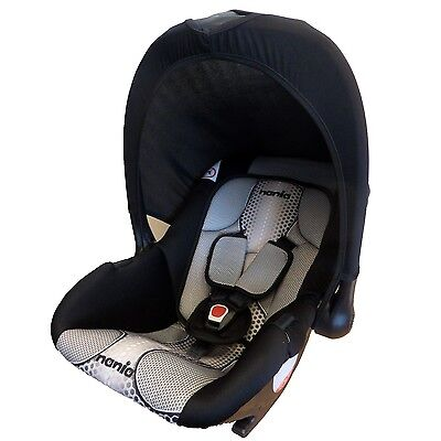New Nania Baby Ride Infant Carrier Car Seat 0-9m Pop Black