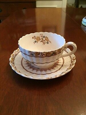 Copeland SPODE Buttercup Flat Cup and Saucer Older Markings