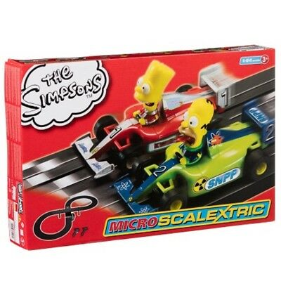 Micro Scalextric The Simpsons Set New Version Best Gift For Kids Brand new