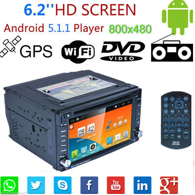 "6.2"" 2 DIN 3G WIFI Android 5.1 Autoradio GPS Car Stereo DVD Player Bluetooth FM"