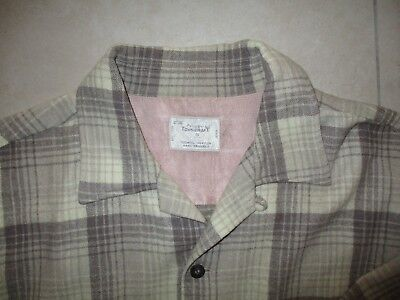 """VINTAGE MID '60s """"PENNEY'S TOWNCRAFT"""" WOOL SHIRT size 42"""