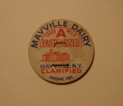 One Only-Mayville Dairy Mayville,ny.n.y. Court House .1 7/16.milk Past Bottlecap